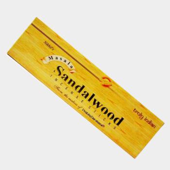 عود خوشبو کننده نخیل Nikhil's مدل دست ساز صندل وود (چوب صندل) Sandal Wood