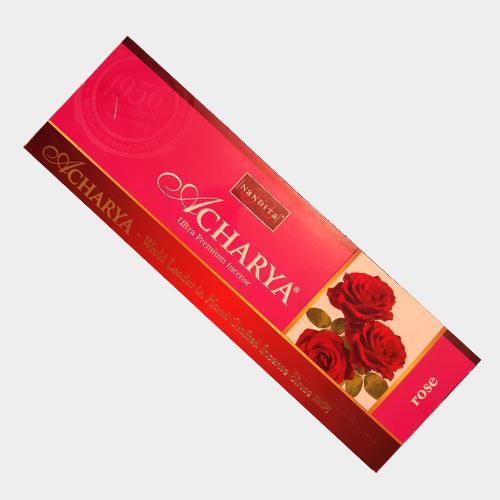 عود خوشبو کننده آچاریا ناندیتا Nandita مدل دست ساز گل رز Rose